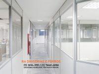Divisoria com vidro em Guarulhos (11) 2656-3151 - (11) 96661-6086